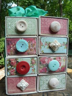 Sizzix Die Cutting Inspiration and Tips: Stacking Drawers