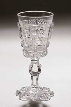"""Dorflinger, 1876-Louisanna, American brilliant cut glass, 5"""", 38 pc """"Centennial Set"""" of states crests, displayed at 1876 Centennial Exhibition then donated to Philadelphia Museum of Art. - -  http://www.philamuseum.org/collections/results.html?searchTxt=dorflinger&keySearch=+Search+&searchNameID=&searchClassID=&searchOrigin=&searchDeptID=&accessionID=&page=1"""