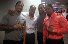 Roman Reigns is one half of the WWE tag team champions, but uniting with fellow Samoan family members The Usos could bring back an old wrestling faction. Wwe Superstar Roman Reigns, Wwe Roman Reigns, Samoan Men, Roman Reigns Family, Polynesian Men, Roman Regins, Raining Men, Professional Wrestling, Wwe Wrestlers