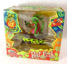 Rat Fink Mod Rods Limited Edition NEW MIB Diecast Ed Big Daddy Roth Flame Car #RacingChampions