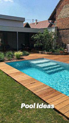 Backyard Pool Landscaping, Backyard Pool Designs, Small Backyard Pools, Small Pools, Outdoor Pool, Small Backyards, Backyard Ideas, Outdoor Decor, Swimming Pools Backyard