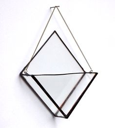 Triangle Hanging Glass Planter | $40