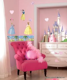 Quarto decorado princesas disney