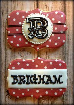Birthday Name Cookies