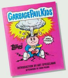 Garbage pail kids trading cards