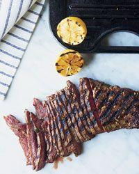 Lemon-and-Garlic-Marinated Flat Iron Steak Recipe on Food & Wine