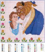 More Beauty and the Beast cross stitch on this page