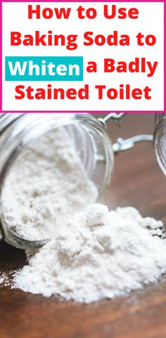 Baking Soda Cleaning, Household Cleaning Tips, Toilet Cleaning, House Cleaning Tips, Cleaning Hacks, Cleaning Toilets, Cleaning Solutions, Toilet Hard Water Stains, Remove Water Stains