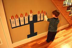 This is a great way to get children involved in decorating for Hanukkah.