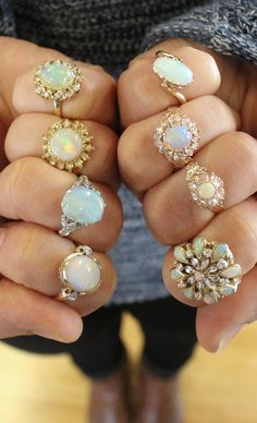 Vintage opal rings are a true delight. Vintage opal rings are a true delight. Jewelry Box, Jewelery, Vintage Jewelry, Jewelry Accessories, Vintage Opal Rings, Opal Jewelry, Luxury Jewelry, Jewelry Gifts, Antique Jewelry