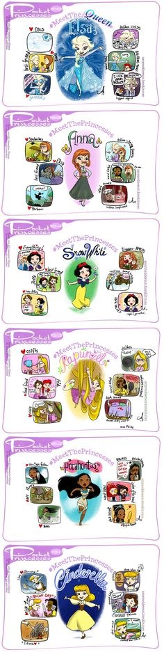 http://amymebberson.tumblr.com/ Pocket Princesses/ Meet the Princesses