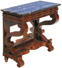 A Restoration Mahogany Pier Table Baltimore C 1840 Both Patterns For The Console Scrolls Can Be Found In John Hall S Cabinet Makers Istant