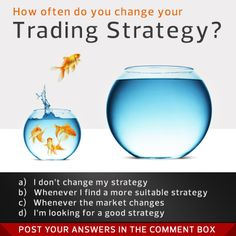 Poll Question: How often do you change your #trading strategy? a) I don't change my strategy b) Whenever I find a more suitable strategy c) Whenever the market changes d) I'm looking for a good strategy