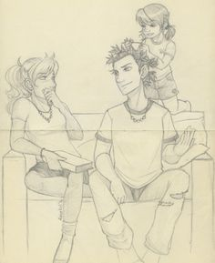 Percy, Annabeth and Percy's sister