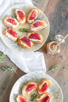 Homemade Ricotta with Blood Orange & Rosemary Honey