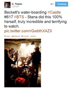 Stana did the waterboarding scene by herself.
