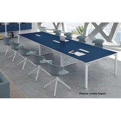 Tables de reunion design · Table de réunion X8 avec plateaux laqués Officity 5aa5e7a2ca9f