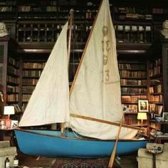 I will have a library with a sailboat in it. Just sitting in my boat, reading my books. Photograph by Tim Walker. Somerset, Tim Walker Photography, Life Photography, Dream Library, Future Library, Library Books, Reading Books, Home Libraries, Sail Away