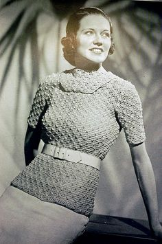 1930s vintage crochet pattern for a blouse | Flickr - Photo Sharing!