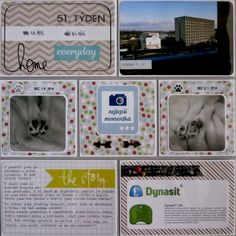 Project life 2014 - 51. týden (levá strana) Project Life, Projects, Cards, Log Projects, Blue Prints, Maps, Playing Cards