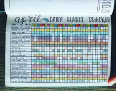 Daily Habit Tracker Spread - April 2017  Is there anything more satisfying than this spread all filled out! April was a much more successful month as far as my healthy goals!  I'm ok with lots of unfilled boxes during that last week...I was at Disneyland with a dear friend, and we had the time of our lives!