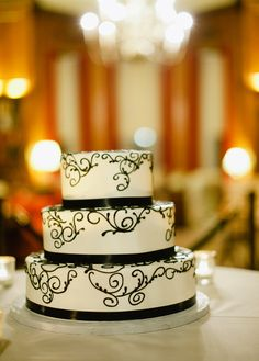 Black and white cake. Cakes for Occasions.
