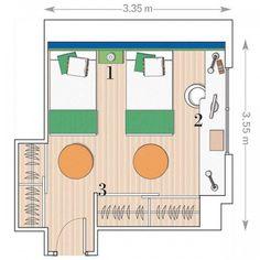 2 girls room layout
