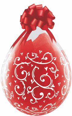 Balão Embalagem Arabescos e Corações Filigree e Hearts para balão presente Qualatex