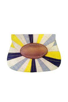 Navy Multicolor Opal Applique Clutch – Two Penny Blue