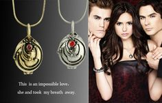 Hot (The Vampire Diaries) Fashion classic vintage accessories quirt grass necklace short design lovers chain free shipping. $8.42