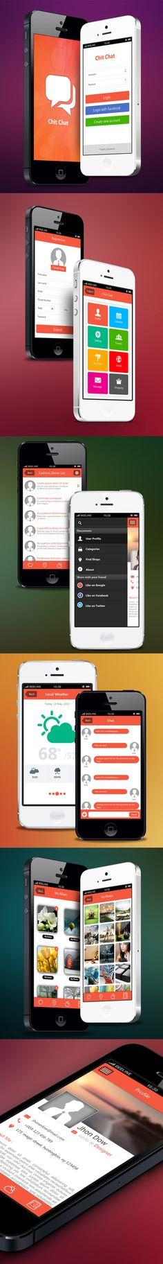 ChitChat Mobile App UI UX Design for Inspiration