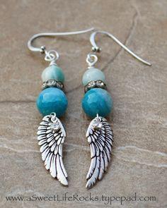 Brand New * Christmas Gift * Angel Wing Earrings *