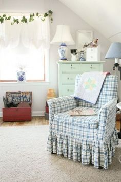 Sitting area in a craft room