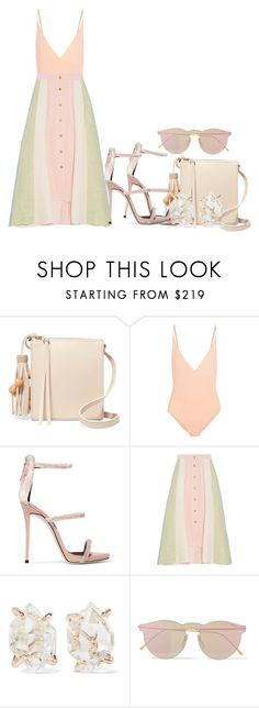 """""""Boy Maybe If You Cared Enough, I Wouldn't Have To Care So Much"""" by missmewitdat ❤ liked on Polyvore featuring Elizabeth and James, FELLA, Giuseppe Zanotti, Peter Pilotto, Melissa Joy Manning and Illesteva"""