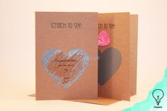 Valentine's day card - Scratch off - You've won my heart