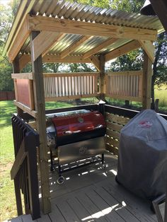 kitchen design diy grill station 95 Best Outdoor Kitchen and Grill for Summer Backyard Ideas Outdoor Grill Area, Outdoor Grill Station, Outdoor Kitchen Grill, Grill Gazebo, Patio Grill, Diy Grill, Backyard Kitchen, Outdoor Kitchen Design, Grill Hut