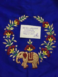 Sudhasri hemaswardrobe Magam Work Designs, Kids Blouse Designs, Hand Work Blouse Design, Bridal Blouse Designs, Embroidery Suits Design, Hand Work Embroidery, Hand Embroidery Designs, Kids Frocks Design, Neckline Designs