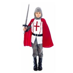 Boy's Medieval Knight Costume - St Georges Day http://www.fancydresshub.co.uk/events/st-georges/boy-s-medieval-knight-costume.html