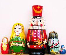 "Nutcracker Clara Mouse King Russian Nesting Dolls 6-1/2"""