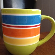 Pier One  New coffee mug... I'm very particular about size, weight, and handle size!