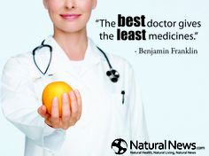 """The best doctor gives the least medicines.""  ~Benjamin Franklin and ONE apple a day keeps the doctor away :)"