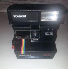 Polaroid Supercolor 635CL Vintage Instant camera Rainbow stripe Tested working #Polaroid