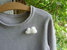 Tuto broche nuage en laine cardée Ô Merveille