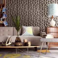 Hive patterned textured wall tiles