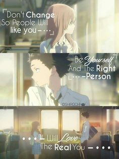 Anime:Koe no katachi Sad Anime Quotes, Manga Quotes, Mood Quotes, True Quotes, A Silent Voice Anime, Deep Sentences, Inspiring Quotes About Life, Inspirational Quotes, Plan Image