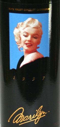 """Marilyn """"Merlot"""" wine label"""