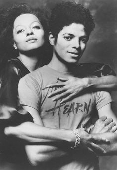 """twixnmix: """"  Michael Jackson and Diana Ross photographed by Norman Seeff, 1982. """""""