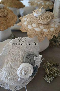 champignon crochet et tissus