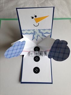 I made this super cute twist and pop up snowman card following maymaymadeit tuition on YouTube.