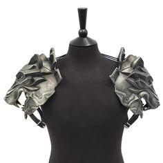 Polyurethane (PU) shoulder armour.